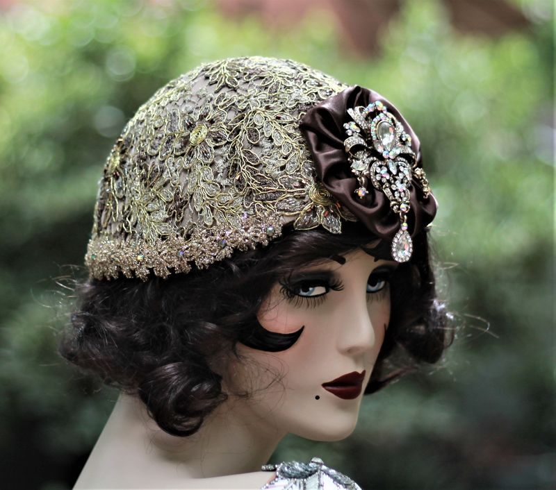 20s Flapper, Great Gatsby, Fancy New Years Hat  - product image