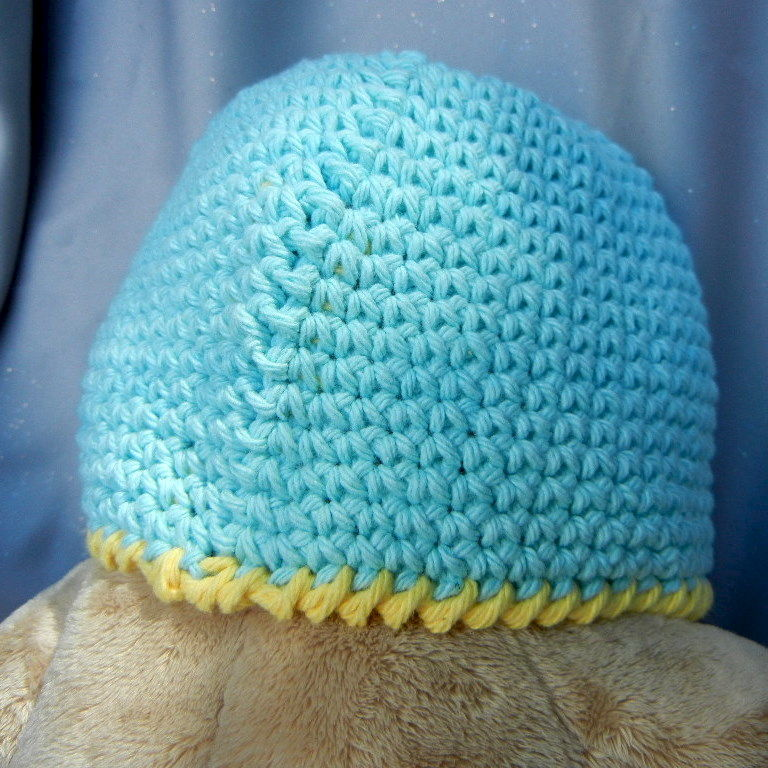Crochet Hat Beanie for Kids Aqua Blue - product image