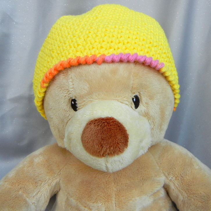 Yellow Crochet Hat Beanie for Kids - product image