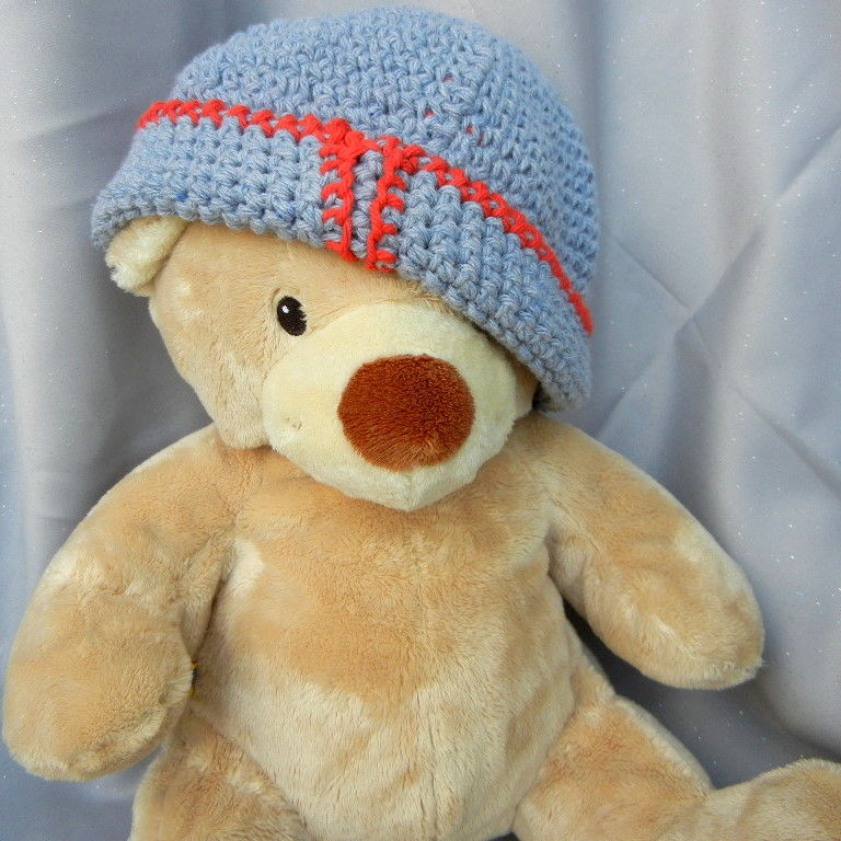 Denim Blue Crochet Hat Beanie for Kids - product image