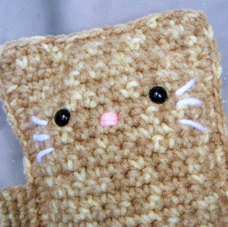 Tan Crochet Cat Stuffed Toy - product image