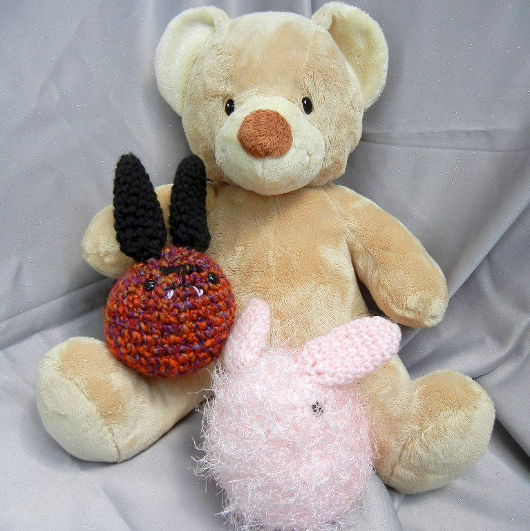 Purple Stuffed Bunny Toy Crochet Doll - product image
