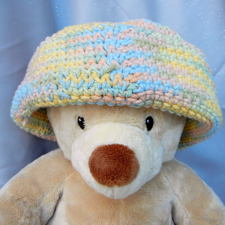 Crochet Hat Beanie Muted Pastel - product image