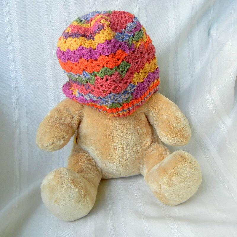 Lacy Crochet Wool Hat Fruit Stripe - product image