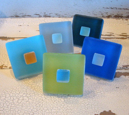 Sea Glass Tile Drawer Pull Cabinet Knob $11.75 - product images  of
