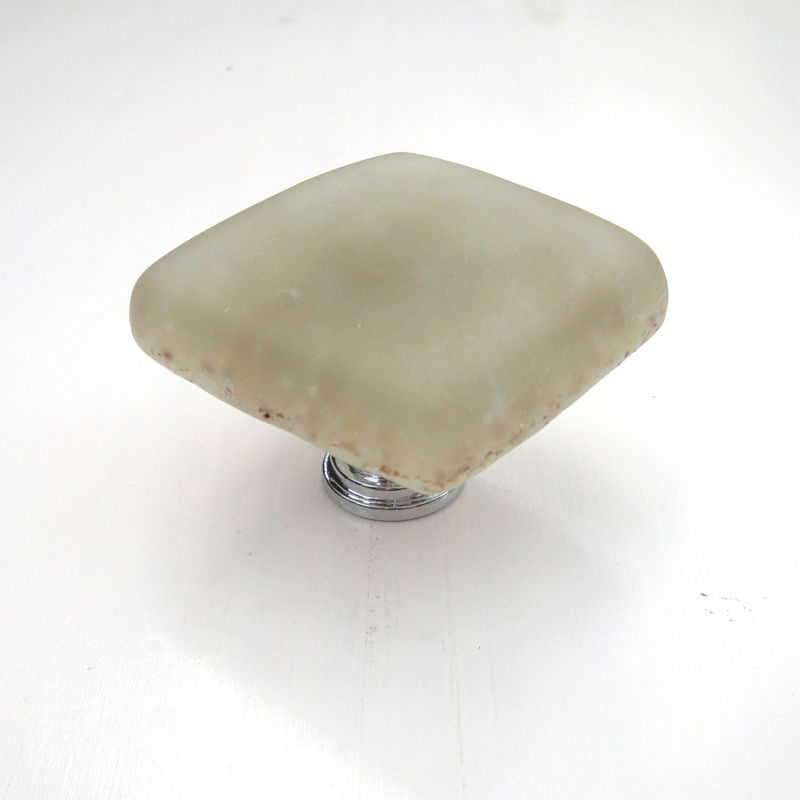 Sand Frosted Fused Glass Beach Cabinet Knob Drawer Pull $20 - product images  of