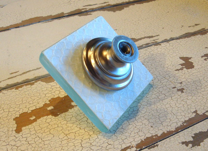 Beach Glass Tile Drawer Knob Cabinet Pull - product images  of