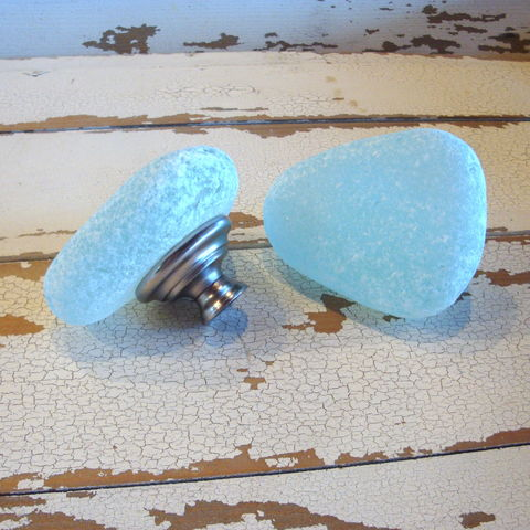 Sea,Glass,Stone,Cabinet,Knob,Medium,cabinet knob, drawer pull, home decor, beach glass, coastal, sea glass, glass