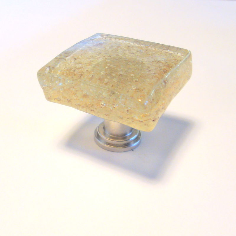 Fused Glass Cabinet Knob Drawer Pull Lemon $18 - product images  of