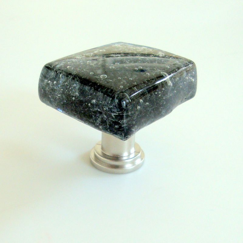 Fused Glass Cabinet Knob Drawer Pull Black $18 - product images  of