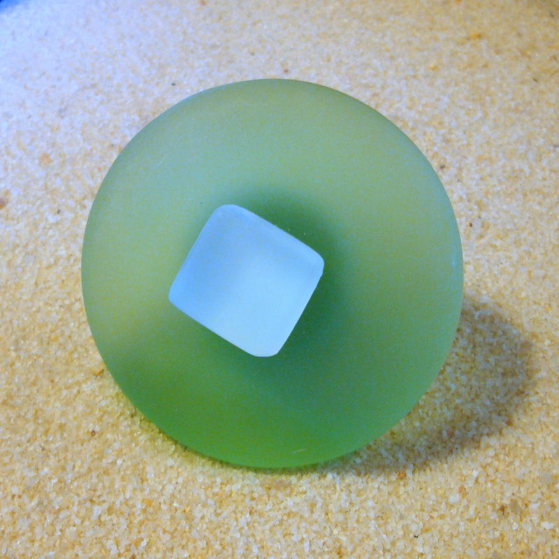 Round Beach Glass Cabinet Knob Drawer Pull $13.75 - product images  of