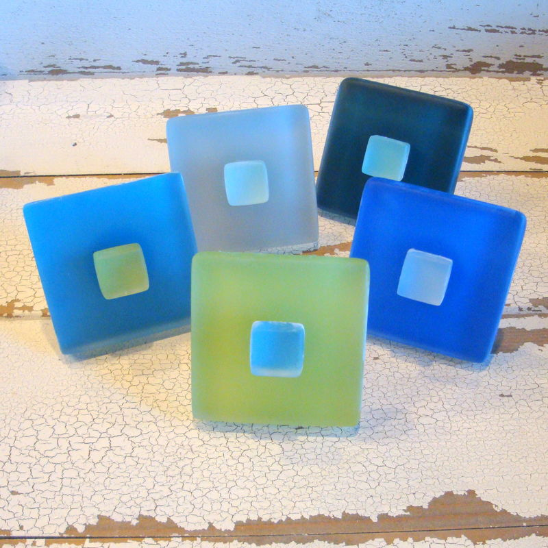 Seaglass Tile Drawer Pull Cabinet Knob $11.75 - product images  of