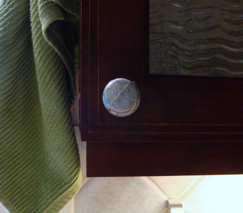 Industrial Home Decor Iron Metal Pipe Cap Cabinet Knob Drawer Pull - product images  of