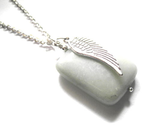Angel Wing Amazonite Necklace - product images  of