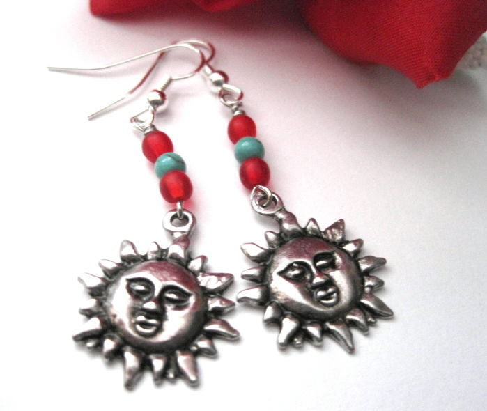 Sun Southwestern Dangle Earrings - product images  of