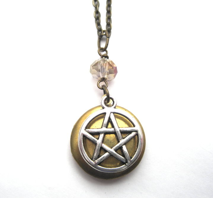 Pentacle Locket Necklace, Mystic Witch - product images  of