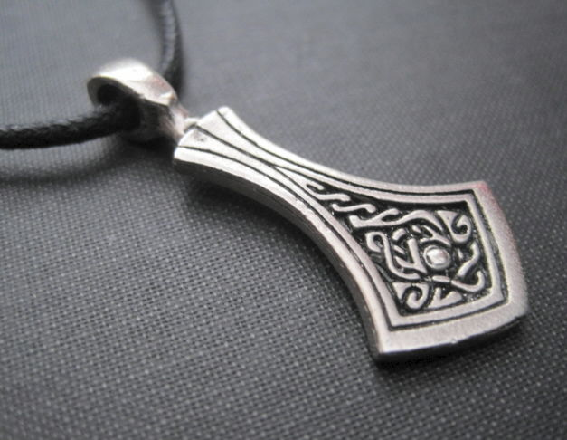Celtic Goddess Tear Amulet Cord Necklace - product images  of