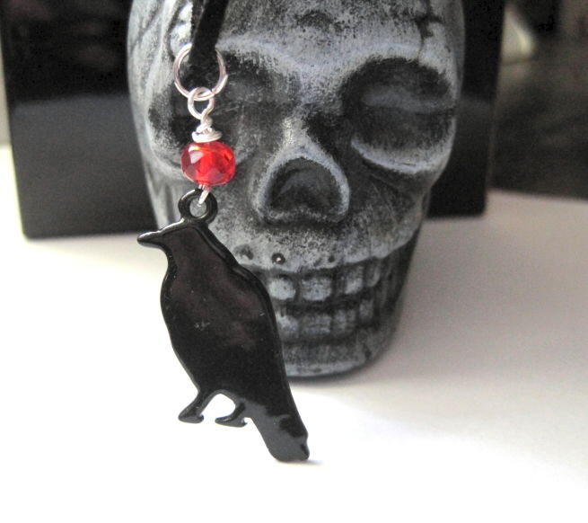 Gothic Black Crow Pendant Necklace - product images  of