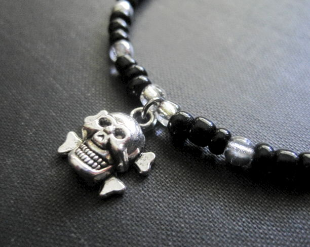Gothic Skull and Crossbones Bracelet - product images  of