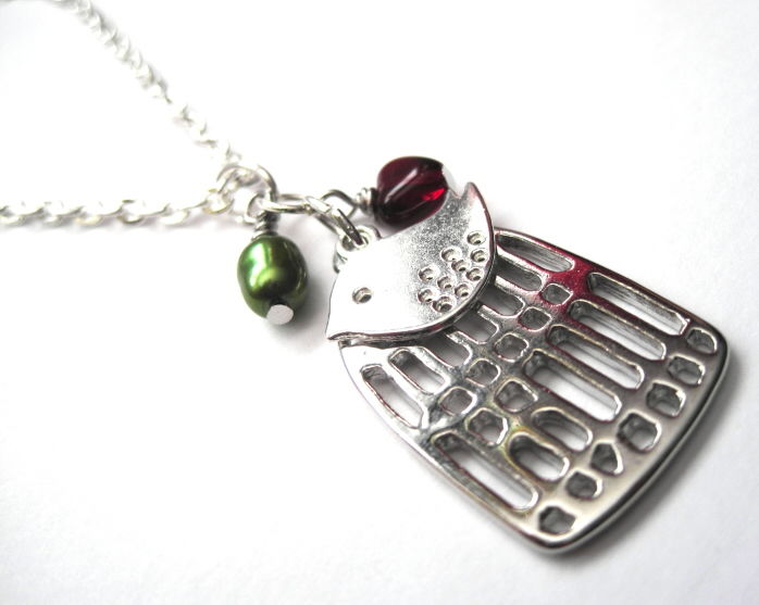 Birdcage Love Bird Necklace - product images  of