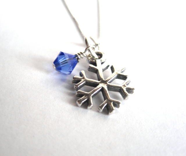 Sterling Silver Snowflake Necklace - product images  of