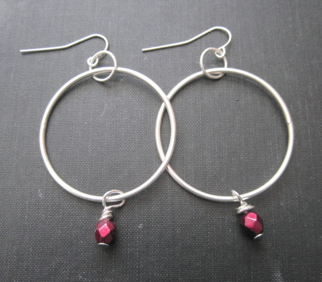 Drop of Blood Hoop Dangle Earrings  - product images  of