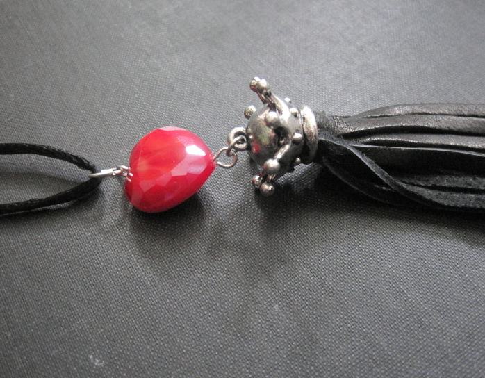 Queen of Hearts Tassel Necklace - product images  of