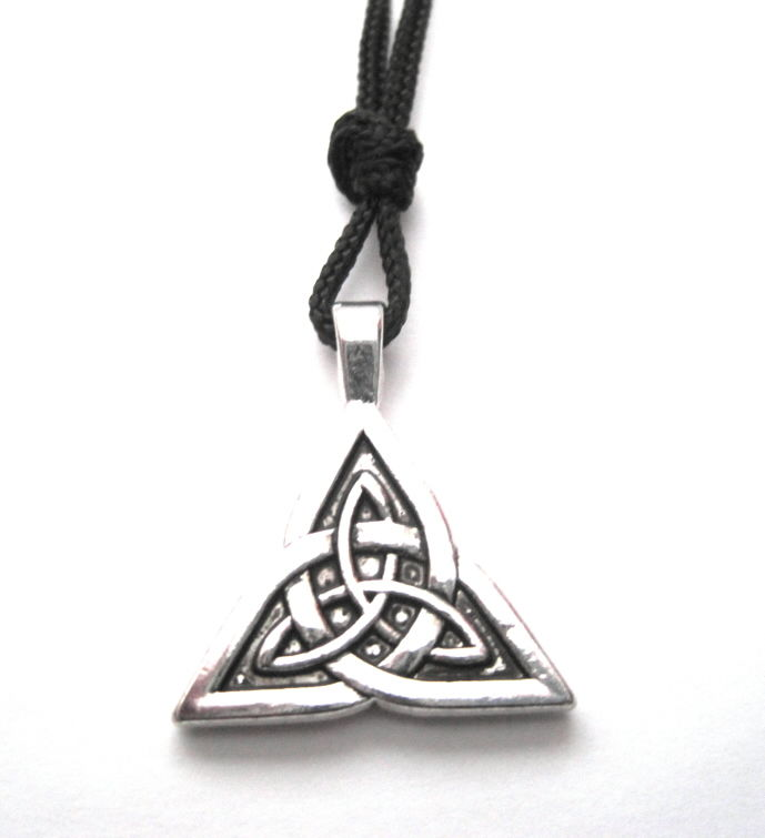 Celtic Triquetra Cord Necklace - product images  of