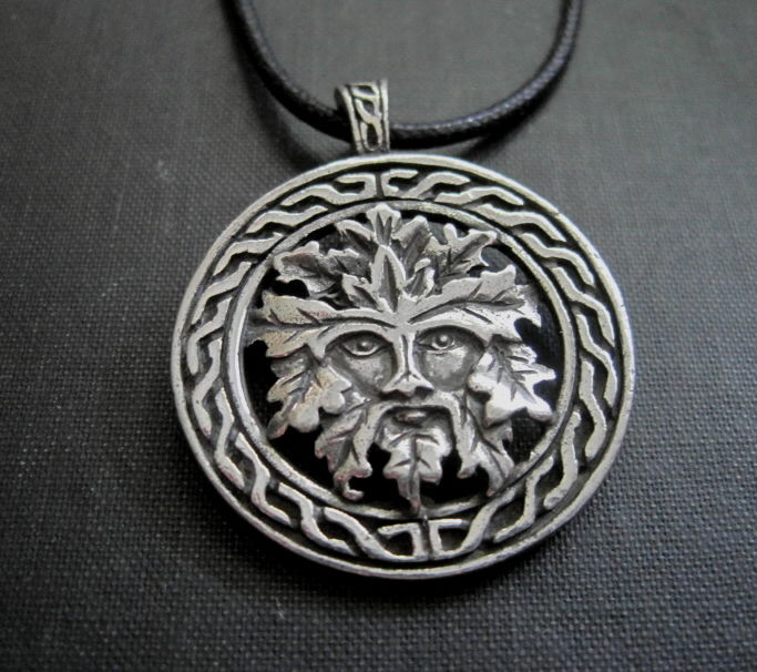 Celtic Green Man Cord Necklace - product images  of