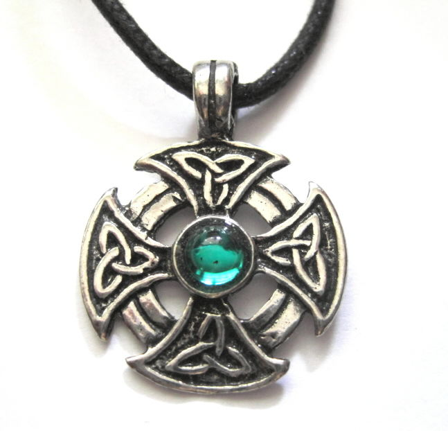 Celtic Iron Cross Cord Necklace - product images  of