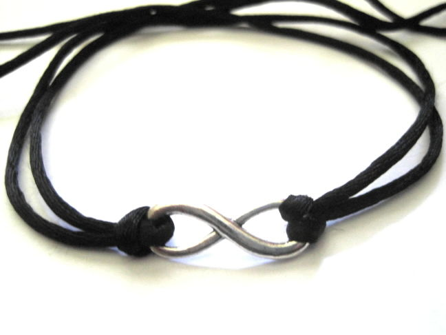 Infinity Symbol Cord Necklace/Bracelet - product images  of