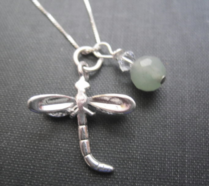 Sterling Silver Dragonfly Necklace - product images  of