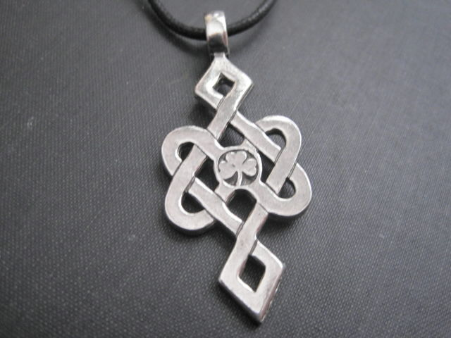 Celtic Knot Luck Amulet Cord Necklace - product images  of