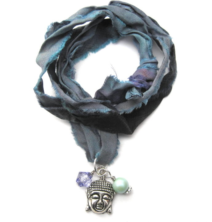 Buddha Head Multi Wrap Bracelet Necklace - product images  of