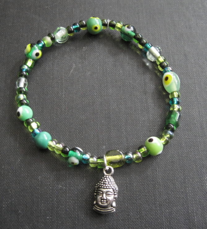 Evil Eye Buddha Stretch Bracelet - product images  of