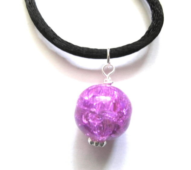Witch Ball Cord Necklace  - product images  of