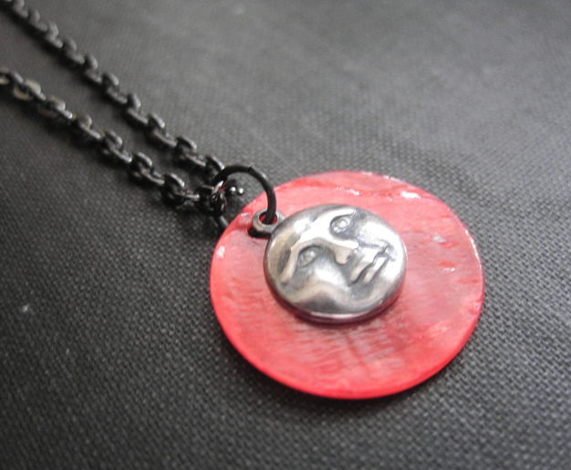 Blood Full Moon Gothic Necklace - product images  of