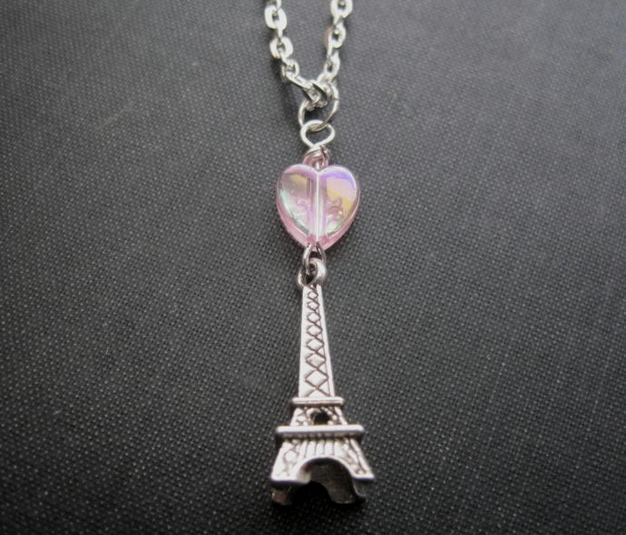 Eiffel Tower Love Necklace - product images  of