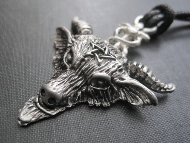 Sabbatic Goat Amulet Cord Necklace Baphomet Necklace - product images  of