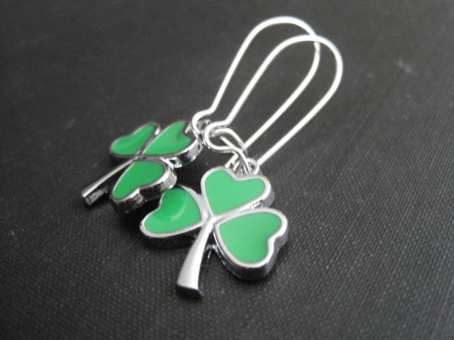 Lucky Clover Dangle Earrings - product images  of