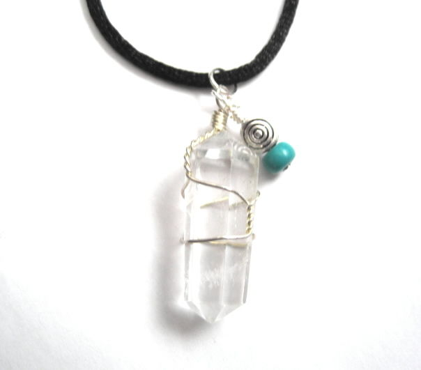 Clear Quartz Crystal Cord Necklace  - product images  of