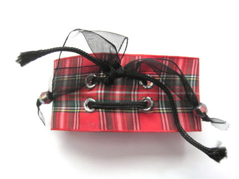 Punk,Rock,Plaid,Bracelet,Punk Rock Plaid Bracelet, red plaid, punk bracelet, Gothic lolita, goth punk, handmade jewelry
