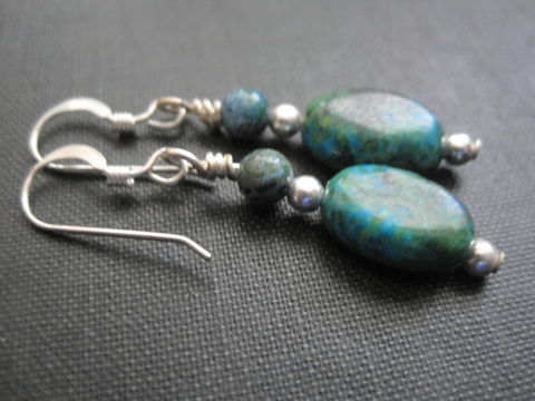 Sterling,Silver,Australian,Jasper,Dangle,Earrings,Sterling Silver Australian Jasper Dangle Earrings, handmade jewelry, sterling silver earrings