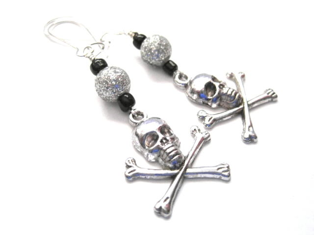 Gothic Crossbones Dangle Earrings - product images  of