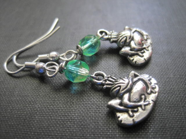 Frog Prince Fairytale Dangle Earrings - product images  of