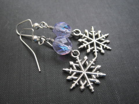 Snowflake,Alexandrite,Dangle,Earrings,Snowflake Alexandrite Dangle Earrings, winter earrings, snowflake, frozen, ice queen, handmade jewelry