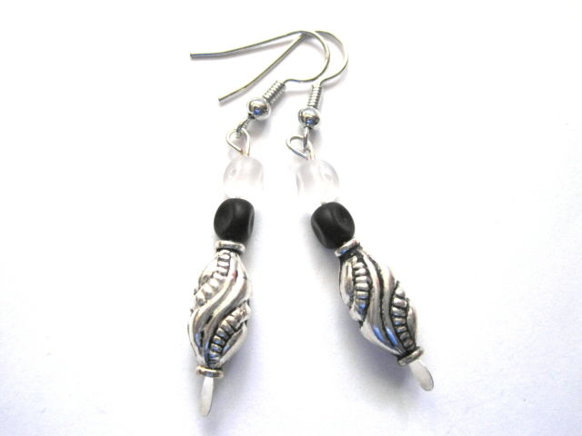 Rock Girl Silver Metal Dangle Earrings - product images  of