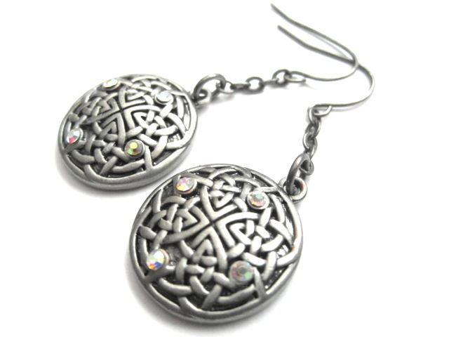 Celtic Fairy Knot Dangle Earrings - product images  of