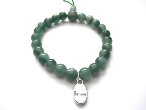 Green,Aventurine,Gemstone,Believe,Bracelet,Green Aventurine Gemstone Believe Bracelet, stretch bracelet, affirmation bracelet,  power bracelet, intention bracelet, chakra, yoga bracelet