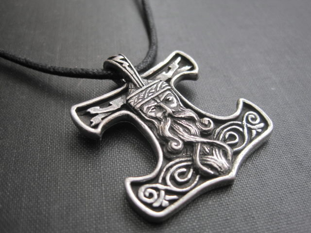 Thors Hammer Norse Amulet Cord Necklace - product images  of